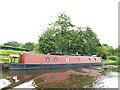 SJ6574 : Narrowboat moored on the Weaver Navigation by Stephen Craven