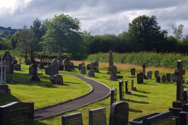 Llanyre churchyard