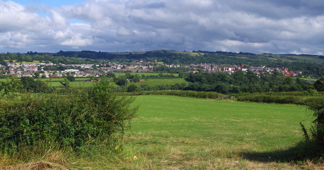 Field near Llanyre with view to Llandrindod Wells