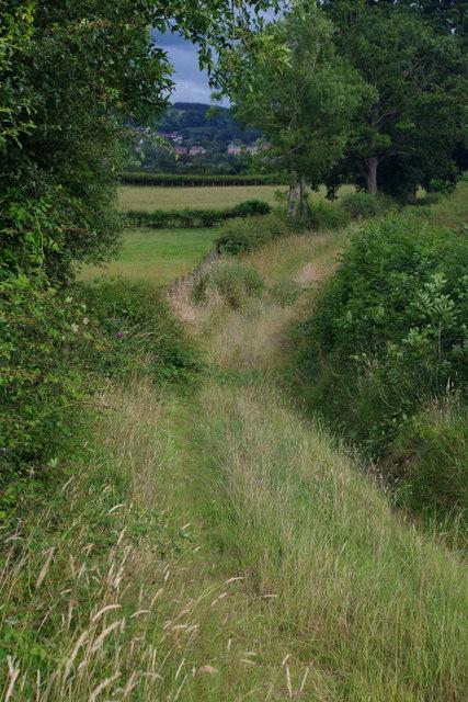 Footpath near Llanyre
