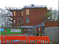 SO8754 : Worcestershire Royal Hospital - erecting scaffolding by Chris Allen
