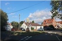 TL4439 : Chrishall village sign by David Howard