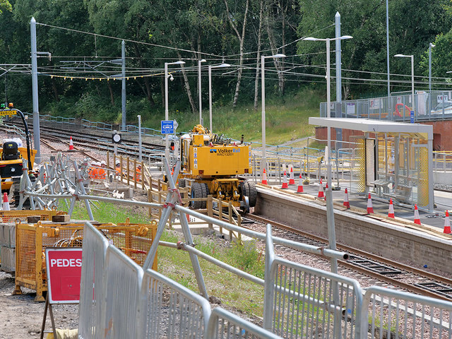 Track Laying at Crumpsall Metrolink Station - July 2019