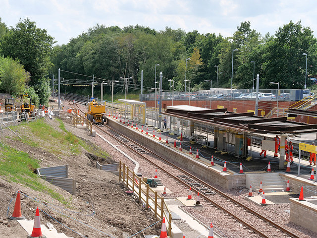 Extension Work at Crumpsall Metrolink Station, July 2019