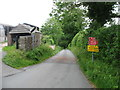 NY6221 : Road closed in King's Meaburn by David Purchase