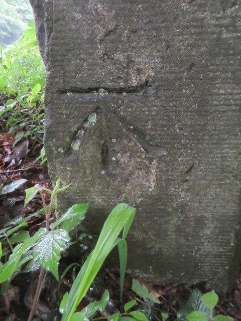 Bench mark on a Speech House Road milestone
