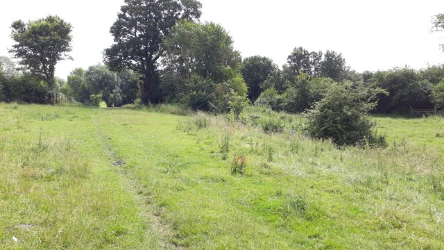 Footpath along beck, near South Elmham