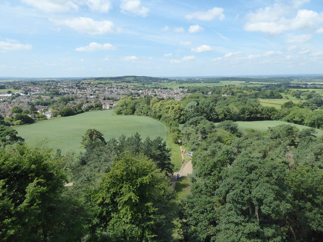 The view from Faringdon Folly 4: West