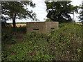 TL9567 : Pillbox near Stowlangtoft by Adrian S Pye
