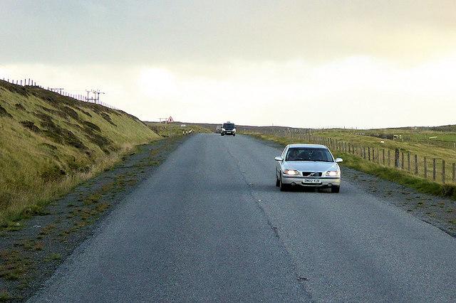 A970 Southbound near Veensgarth