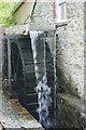 SM8025 : Solva Woollen Mill - water wheel by Stephen McKay