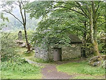 NY2516 : National Trust building at the Bowder Stone by Graham Hogg