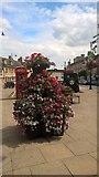 TF1309 : Flower planter on Market Place, Market Deeping by Paul Bryan