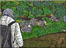 SK2375 : Stoney Middleton - main well dressing 2019 by Neil Theasby