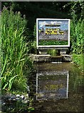 SK2375 : Bath House well dressing in Stoney Middleton 2019 by Neil Theasby