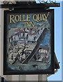 SS5533 : Rolle Quay Inn name sign, Barnstaple by Jaggery
