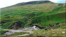 NN7428 : Dam on the Invergeldie Burn by Gordon Brown
