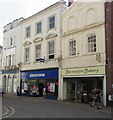 SS5533 : High Street bakery and shoe shop, Barnstaple by Jaggery