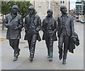 SJ3390 : Statues of the Beatles, Liverpool by Chris Heaton