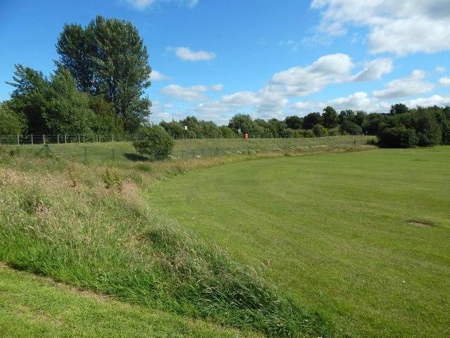 Embankment at Moredun playing fields