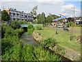 TQ5174 : River Cray at Crayford by Malc McDonald