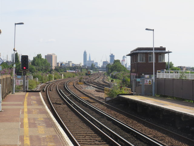 Railway tracks at Clapham Junction