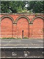 TQ3470 : Crystal Palace station, north side, wall detail by Robin Stott