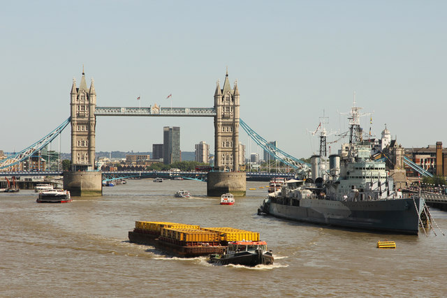 River Thames, HMS Belfast & Tower Bridge