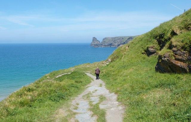 SW Coast Path at Bossiney Haven, near Tintagel, Cornwall