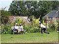 ST3505 : Taking photographs outside the walled garden at Forde Abbey by Vieve Forward