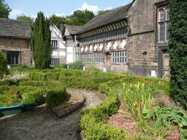 The oldest parts of Smithills Hall, Bolton