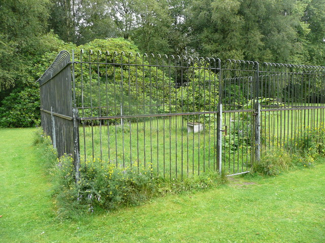 Enclosure on the lawn east of Smithills Hall, Bolton