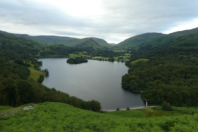 Grasmere from path up Loughrigg Fell