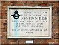 SJ4812 : In memory of John Edwin Pugh by Gerald England