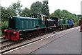 SJ9542 : Foxfield Railway - four diesel locomotives by Chris Allen