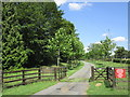 SP9487 : Entrance to Bocase Farm by Jonathan Thacker