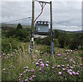 SO1009 : Line spur pole west of Llechryd by Jaggery