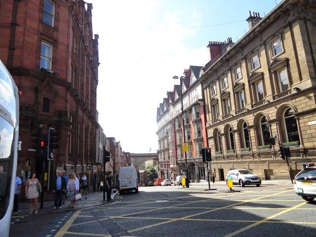 Looking down Dene Street
