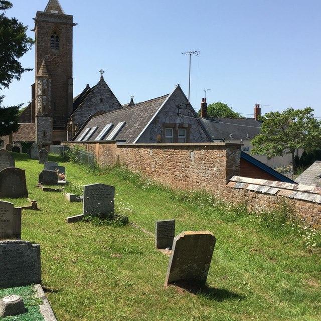 Otterton Churchyard and School