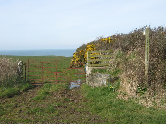 The start of the path to Porth Widlin