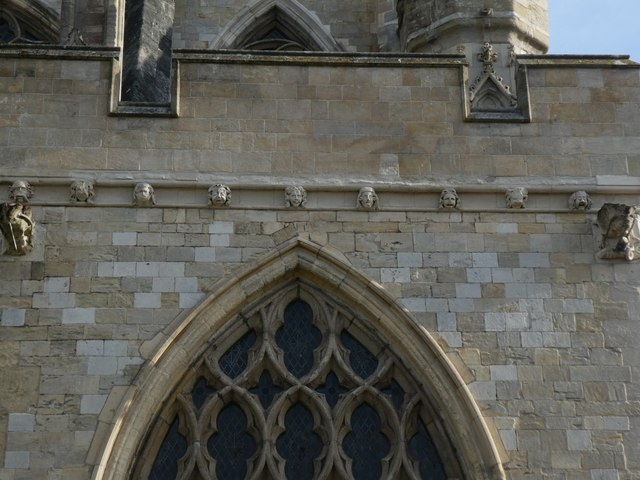 Carved bosses and frieze, Exeter Cathedral