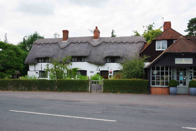 Old thatched cottage, Chapel Row, near Bucklebury, Berks
