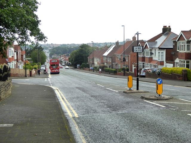 Looking west on West Road