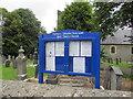 SN3040 : Holy Trinity Church information board, Newcastle Emlyn by Jaggery
