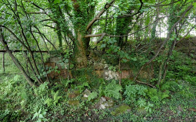 Ruined structure beside the River Leven
