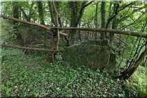 NS3977 : Ruined structure beside the River Leven by Lairich Rig