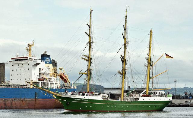 """The """"Alexander von Humboldt II"""", Belfast harbour (July 2019)"""