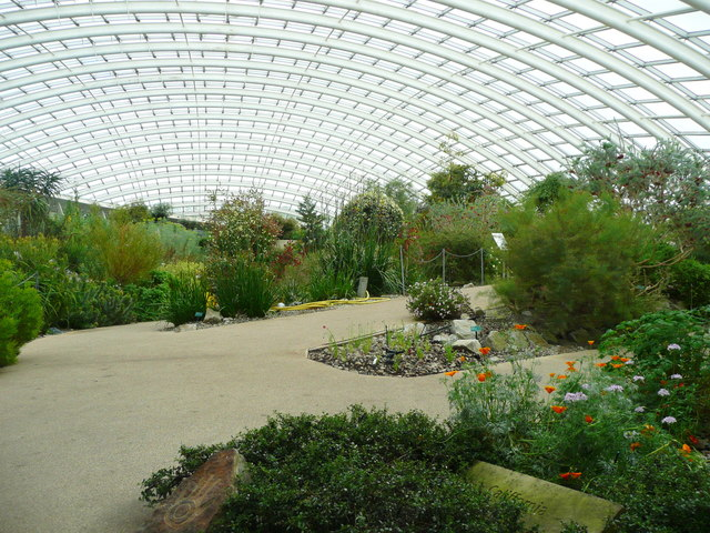 At the main entrance to the Great Glasshouse, National Botanic Garden of Wales