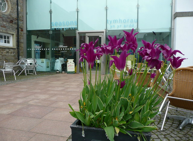 The entrance to the café, National Botanic Garden of Wales