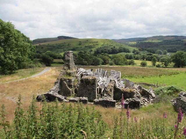The ruin of a farmhouse